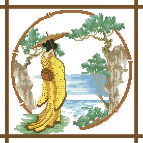Схема Гейша в желтом