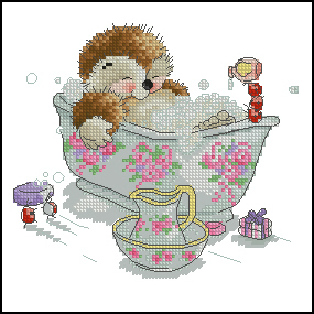 Схема Ежик в ванне