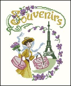 Схема Французский сувенир