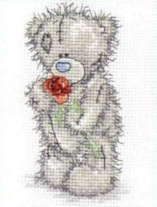 Схема Мишки Тедди. С розой