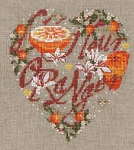 Схема Апельсиновое сердце