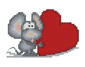 Схема Мышка с большим сердцем