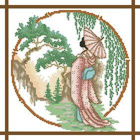 Схема Гейша в розовом