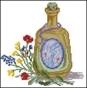Схема Флаконы парфюмов Полевые цветы