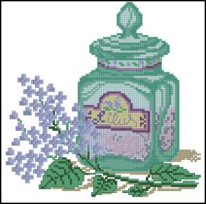 Схема Флаконы парфюмов Сирень