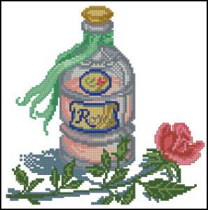 Схема Флаконы парфюмов Роза