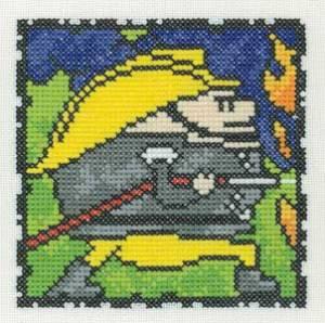 Схема Серия «Смешные человечки» Пожарный