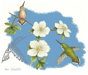 Схема Отражение. Кизил и колибри