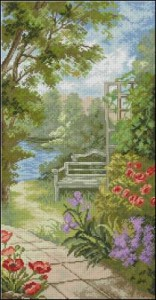 Схема Садовая скамейка