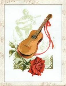 Схема Гитара и роза