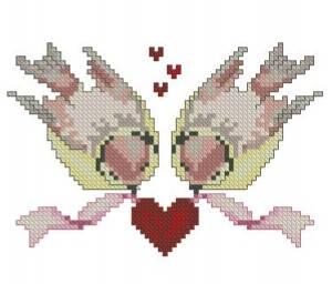 Схема Птички с сердечком