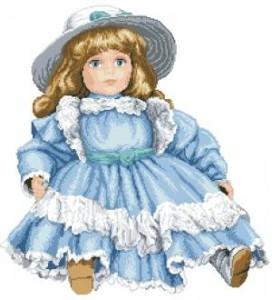 Схема Кукла голубая