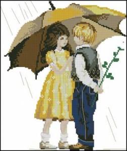 Схема Детки под зонтиком