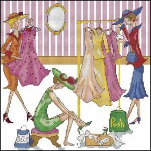 Схема Подружки в магазине