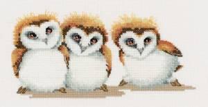 Схема Три маленьких совёнка / Three Little Maids