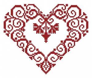 Схема Сердечко и листок