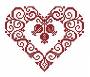 Схема Сердечко и ягоды