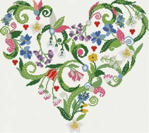 Схема Цветочное сердечко