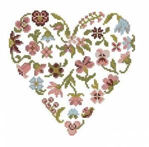 Схема Сердце цветы