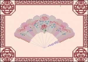 Схема Веер розовый