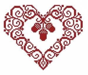 Схема Сердечко и желуди