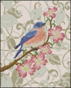 Схема Цветение / Bluebird in Blossoms