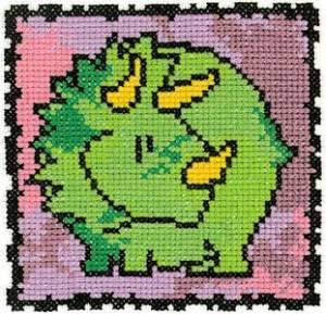 """Схема Серия """"Смешные животные"""" Динозавр"""