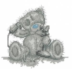Схема Мишка Тедди. Позвони мне