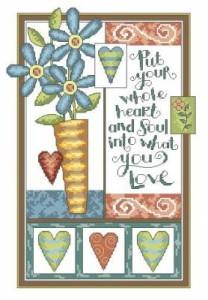 Схема Сердечки и цветочки