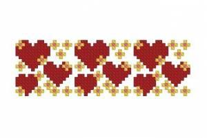 Схема Маленькие сверкающие сердечки