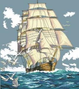 Схема Парусник / Clipper Ship Voyage