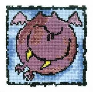 Схема Серия «Смешные животные» Летучая мышь
