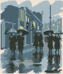 Схема Серия миниатюр. Дождь