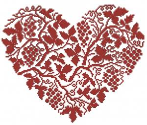 Схема Сердце / Tralci di vite