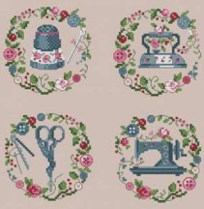 Схема Швейные миниатюры