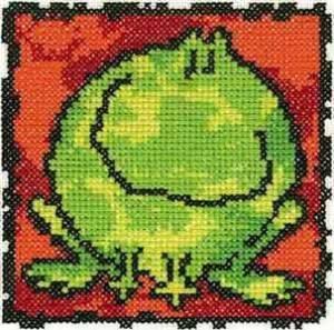 Схема Серия «Смешные животные» Лягушка