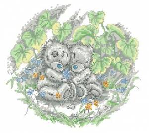 Схема Мишки Тедди. Под листьями