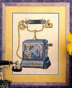 Схема Телефон с цветами