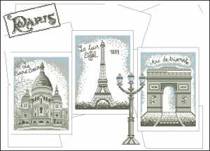 Схема Открытка из Парижа