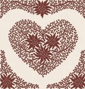 Схема Ажурное сердце