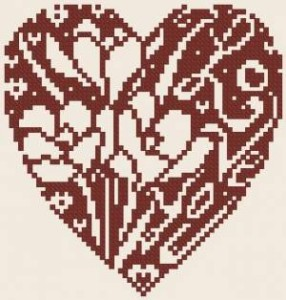 Схема Сердечко с крокусами