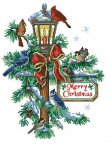 Схема Рождественский фонарь и птицы