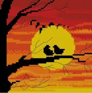 Схема Птицы на закате