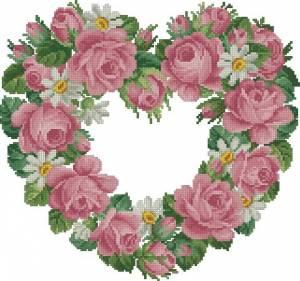 Схема Сердце из роз