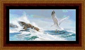 Схема Чайка над морем