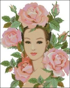 Схема Леди в розах