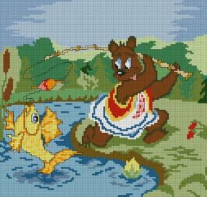 Схема Мишка и золотая рыбка