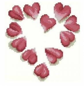 Схема Сердце из лепестков