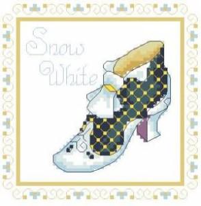 Схема Туфелька Белый снег / Shoe Snow White