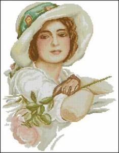 Схема Дама с розой